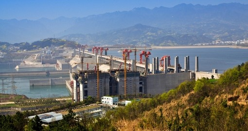 Three Gorges Dam - one of the main highlights on Yangtze River cruises