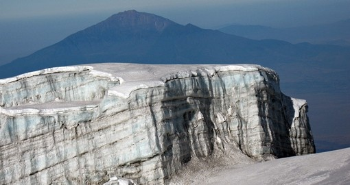 Enjoy this amazing view from glacier of Mt Kilimanjaro on your next trip to Tanzania.