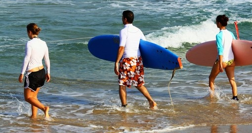 You will see surfers on their way to the sea during your next Australia vacations.