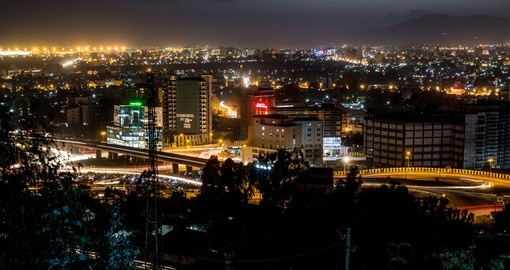 Addis Ababa at night