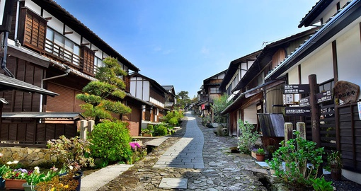 Visit traditional towns on your Japan vacation