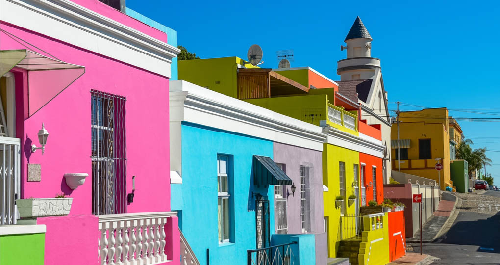 Colourful homes of Bo-Kaap, Cape Town.