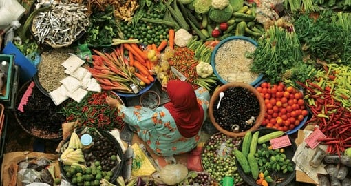Finding fresh ingredients in Malaysia's markets.