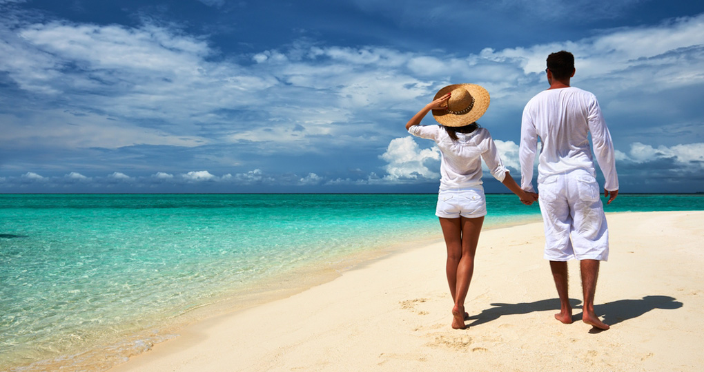 Maldives escape including airfare goway travel for Tropical vacations for couples