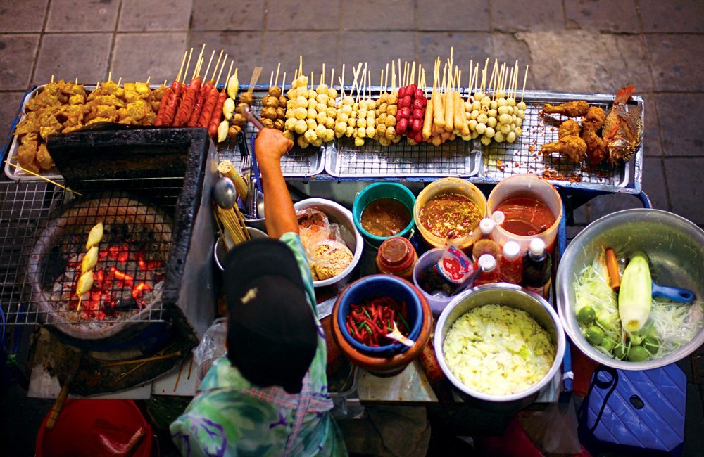 Street vendor in Thailand.