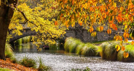 Autumn time along the river in Christchurch