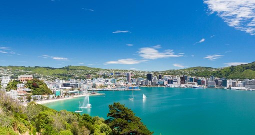 View from Mount Victoria into the Bay of Wellington