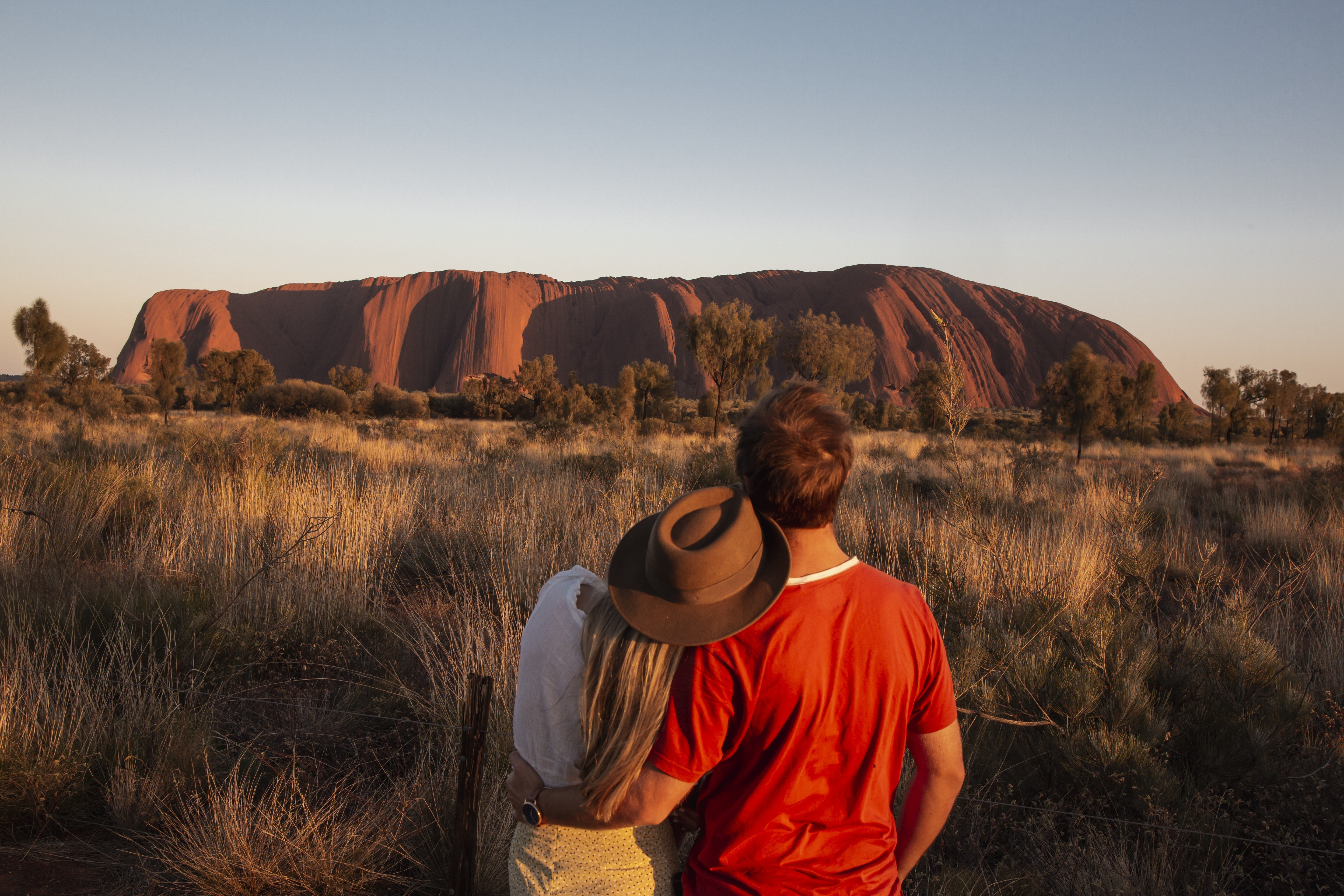 Couple at Uluru/Ayers Rock