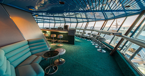 The Bar on the Celestyal Cruise Ship