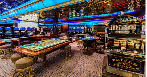 The Casino on the Celestyal Cruise Ship