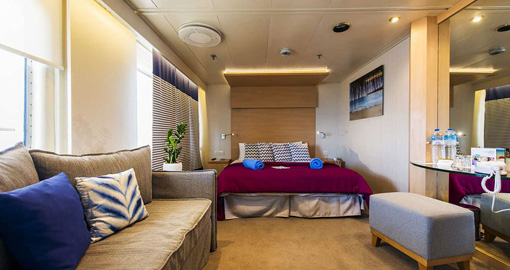 The SB Balcony Suite on the Celestyal Nefeli