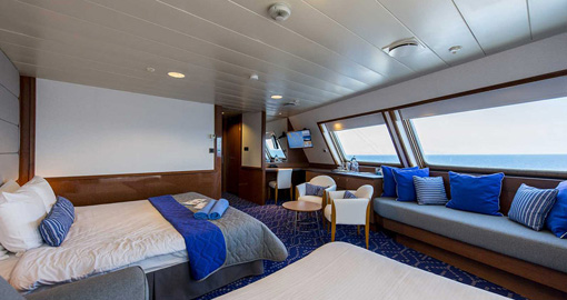 Grand Suite on the MS Celestyal Olympia.