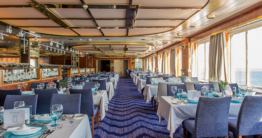 The Restaurant on a Celestyal Cruise Ship
