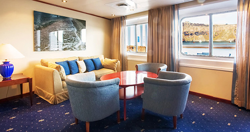 Grand Suites on the MS Celestyal Crystal.