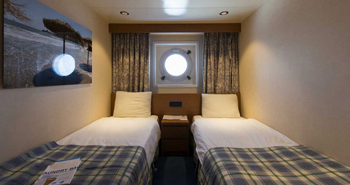 Exterior Stateroom on the MS Celestyal Olympia.