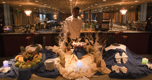 Buffet on board CroisiEurope ships.