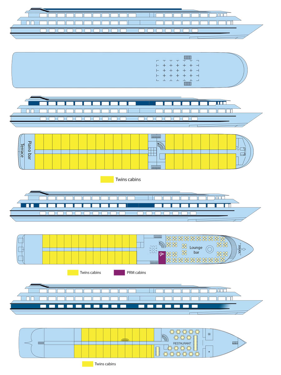 MS Beethoven Deck plans