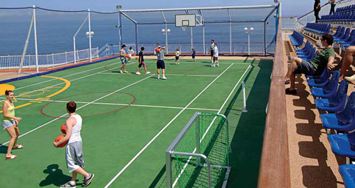 Basketball/Volleyball/Tennis Court.