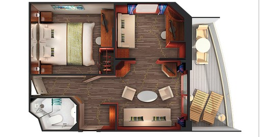 2-Bedroom Family Suite with Large Balcony