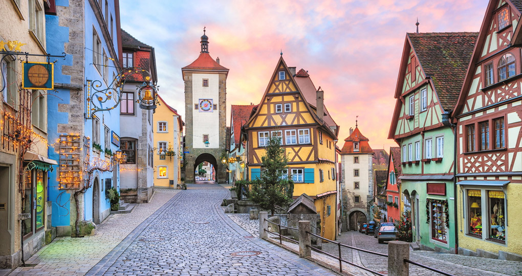 A classic Rothenburg ob der Tauber view