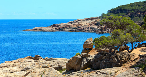 Tamariu bay, Costa Brava, Catalonia, Spain