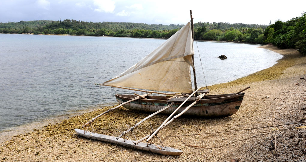 Traditional Tongan boat