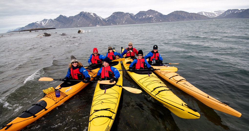kayaking in Arctic