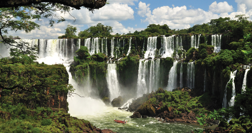 Igassu Falls in Brazil and Argentina