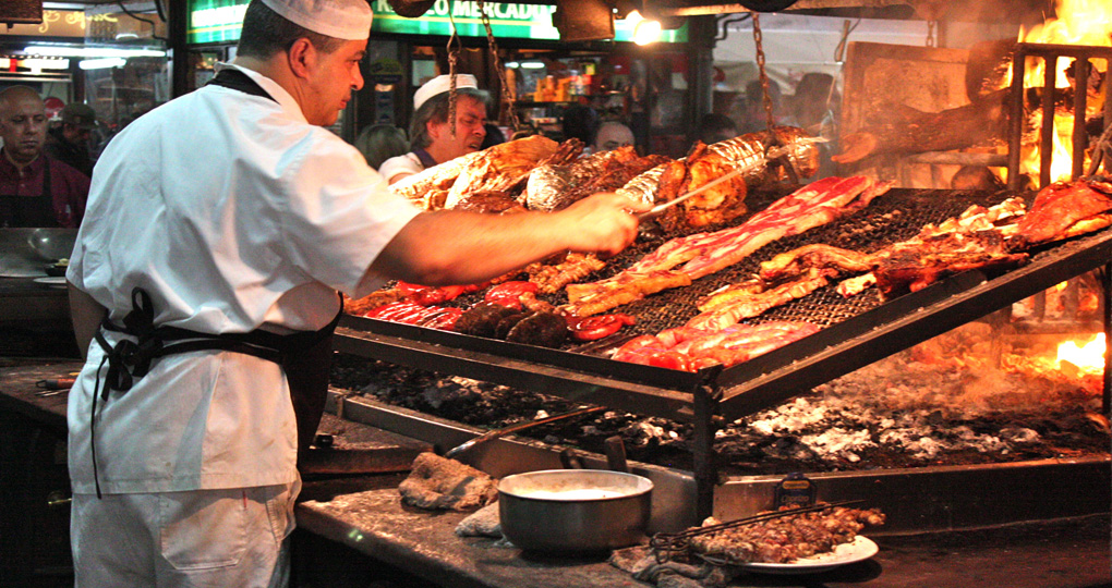 Grillhouse or parrilla in Argentina.