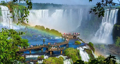 Breathtaking Iguazu Falls on the boarder of Brazil and Argentina.