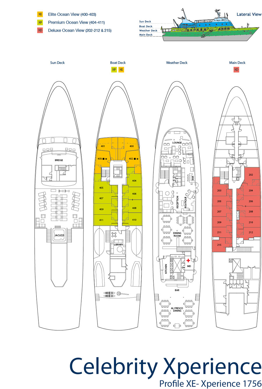 Celebrity Xperiences deck plan