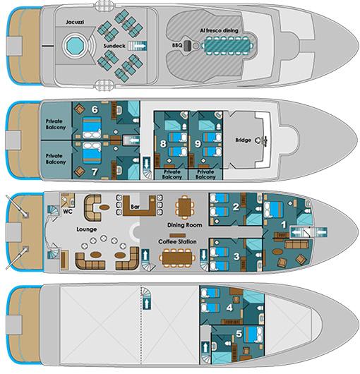 Natural Paradise l Natural Paradise Yacht Deck Plan l Goway