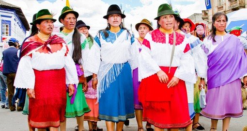 Indigenous women  in traditional costume