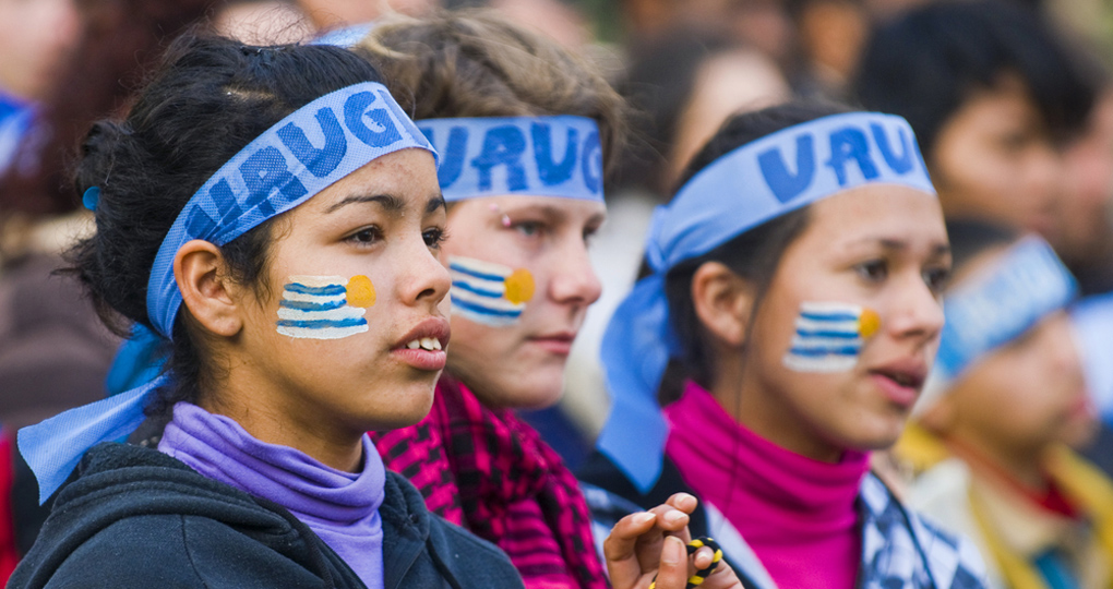 Football supporters, Uruguay