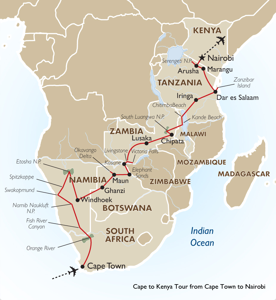 Cape to kenya south africa kenya vacation goway travel cape to kenya tour from cape town to nairobi gumiabroncs Choice Image