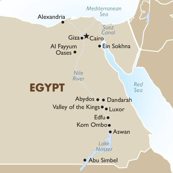 Egypt Geography Maps Egypt Tours Goway Travel - World map jordan river