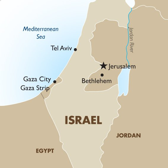 Israel Geography And Maps Goway Travel - Map of egypt jordan and israel
