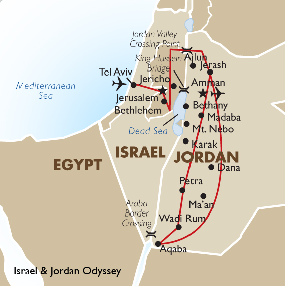 Tel Aviv Middle East Map.Map Of Israel Middle East