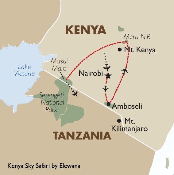 Kenya sky safari by elewana kenya vacation goway travel itinerary view trip map view trip special gumiabroncs Images