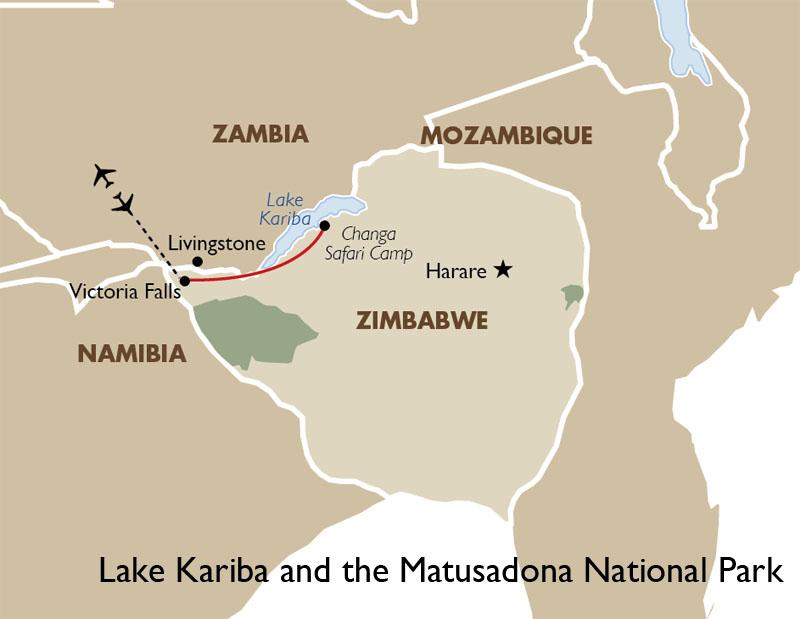 Lake Kariba Africa Map.Lake Kariba Matusadona National Park Zimbabwe Safari Goway