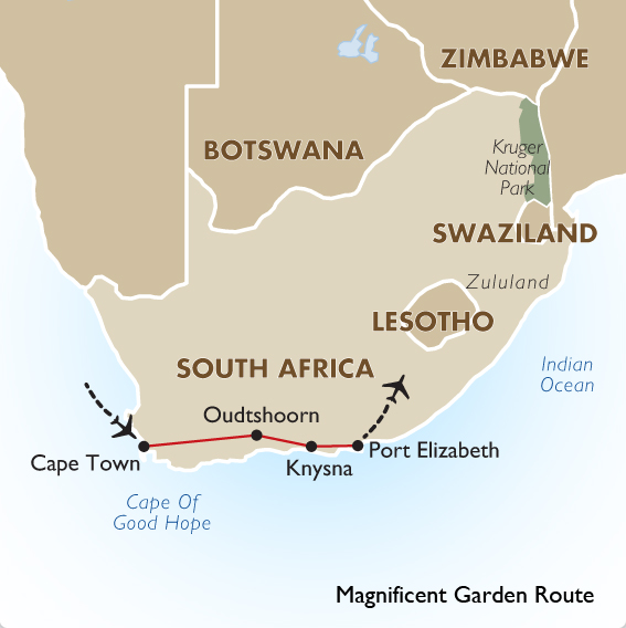 Garden route tours south africa cape town port e goway - How far is port elizabeth from cape town ...