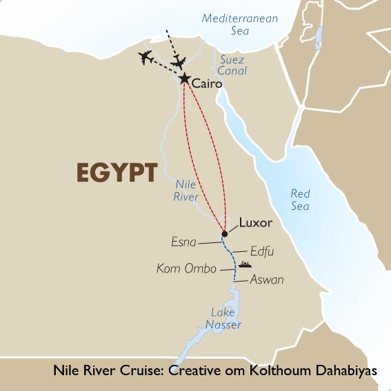 Nile River Cruise Creative om Kolthoum Dahabiyas  Goway
