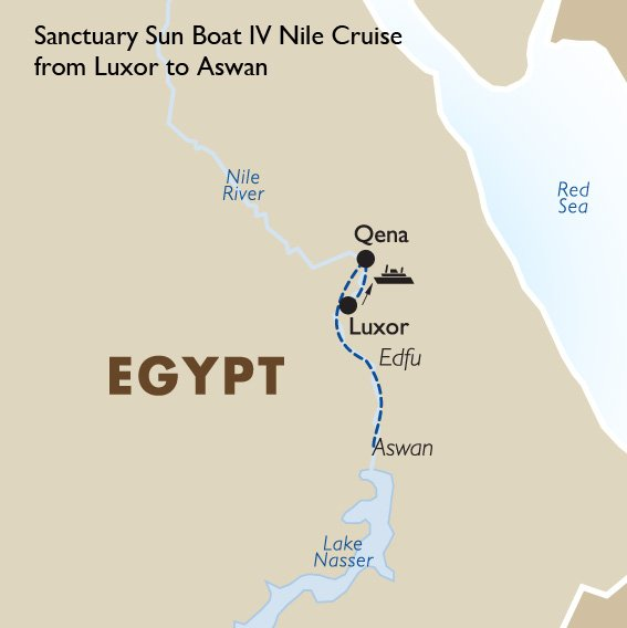 Luxor To Aswan Cruise Sanctuary Sun Boat Egypt Tours Goway