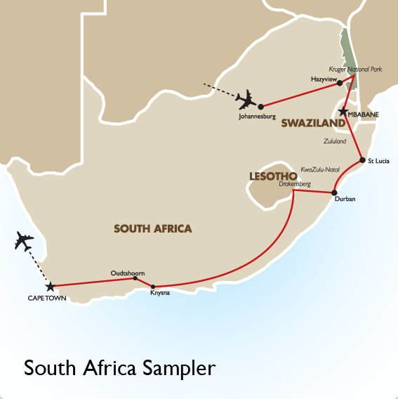 15 Day South Africa Sampler South African tours