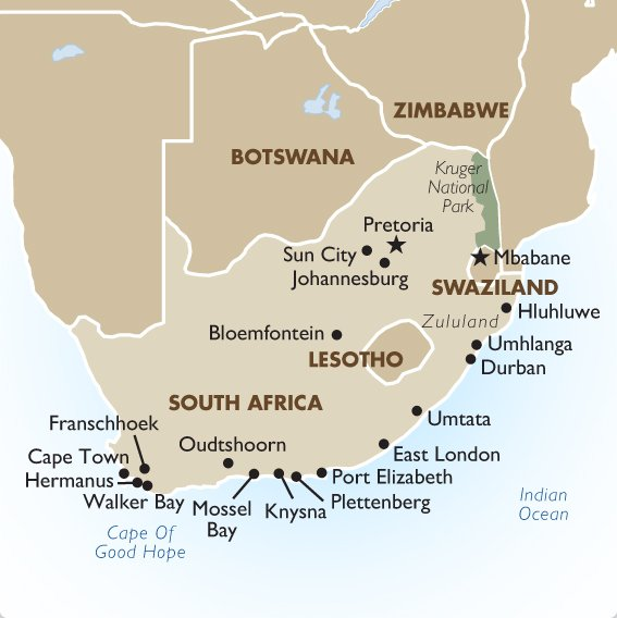 South Africa Geography And Maps Goway Travel - Where is south africa map world