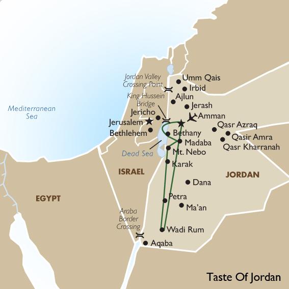 Taste of Jordan  Jordan Vacation  Tours  Goway Travel