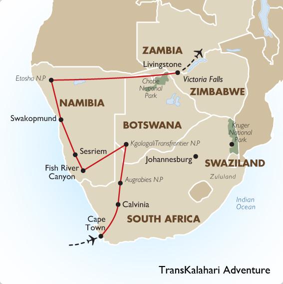 Africa Map Kalahari Desert 42698 Trendnet