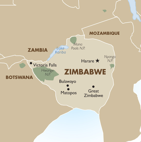 Zimbabwe geography and maps goway travel zimbabwe country map gumiabroncs Choice Image