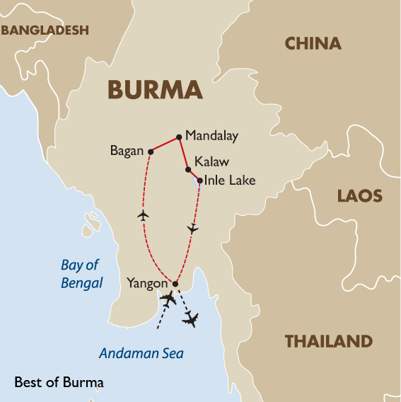 Best of Myanmar Soft Adventure Small Group Tour – Tourist Map Of Myanmar