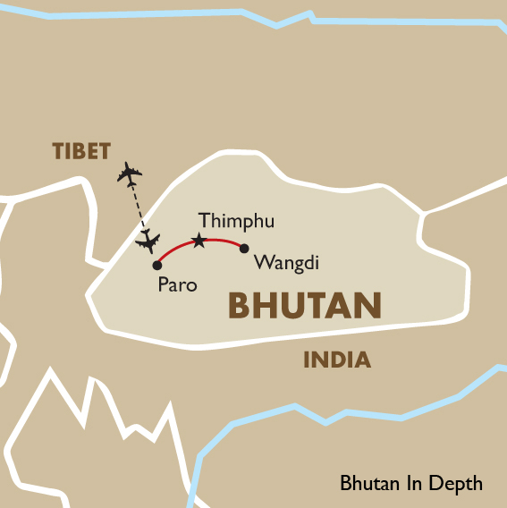 Map Of Asia Bhutan.Bhutan Tours Bhutan In Depth Goway Travel